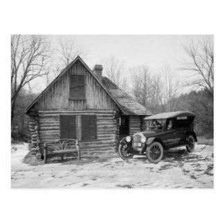 Postal Coche antiguo en el parque de Rock Creek, los años