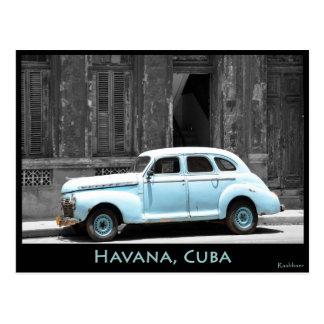 POSTAL COCHE ANTIGUO EN HAVANA