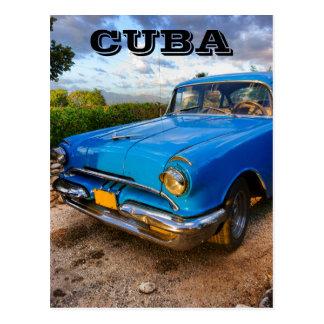 Postal Coche clásico americano viejo en Trinidad, Cuba