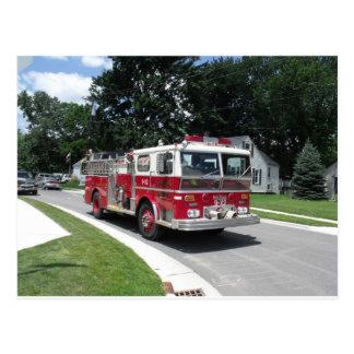 Postal coche de bomberos