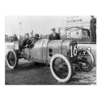 Postal Coche de carreras 1913