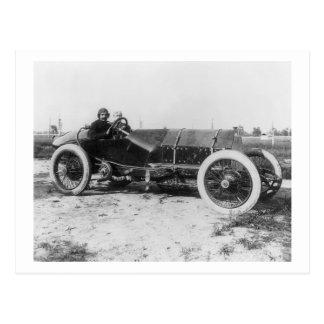 Postal Coche de carreras temprano, 1913