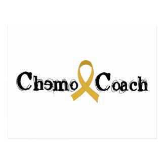 Postal Coche de Chemo - cinta del oro del cáncer de la