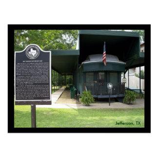 Postal Coche de ferrocarril de Jay Gould