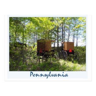 Postal Cochecillos de Amish