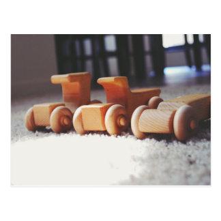 Postal Coches de madera