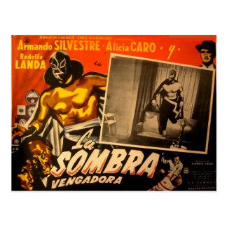 Postal Coches enmascarados mexicano del pasillo del héroe