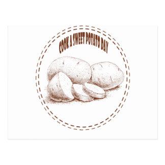 Postal Cocine un día de la patata dulce - día del aprecio