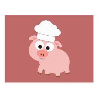 Postal Cocinero del cerdo