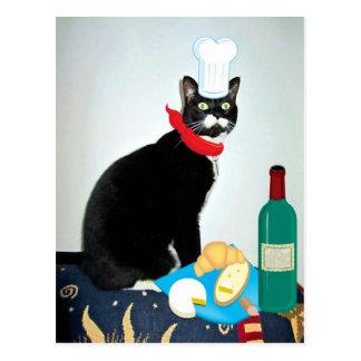 Postal Cocinero francés Lucy