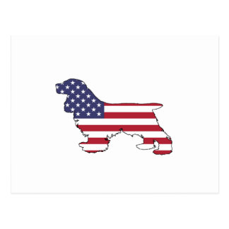 "Postal Cocker spaniel ""bandera americana """