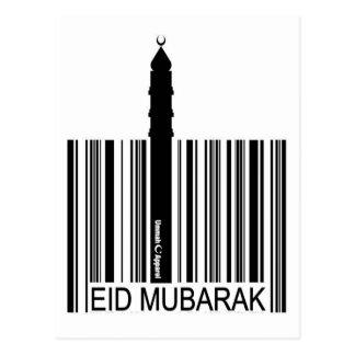 Postal Código de barras de Eid Mubarak