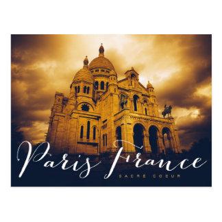 Postal coeur del sacré en París Francia