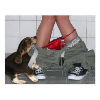 Postal Cogido con mis pantalones abajo una vez más perro