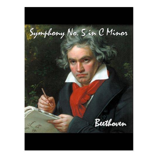 Postal Colección clásica de la obra maestra de Beethoven