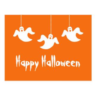 Postal colgante de Halloween de los fantasmas, nar