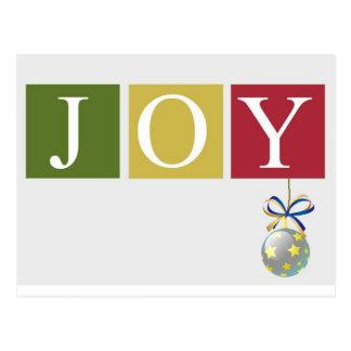 Postal colgante del ornamento de la alegría