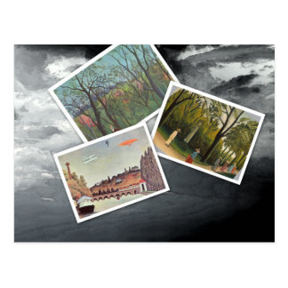 Postal Collage de Henri Rousseau