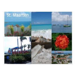 Postal Collage de la foto de Maarten del santo por