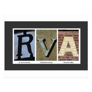 Postal Collage de la foto de RVA