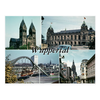 Postal Collage de la foto de Wuppertal del vintage
