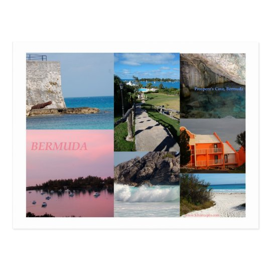 Postal Collage de la foto del atontamiento Bermudas de