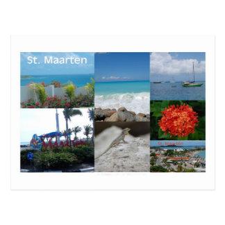 Postal Collage de la fotografía del St. Maarten-Sint