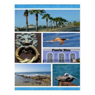 Postal Collage de la naturaleza de San Juan, Puerto Rico