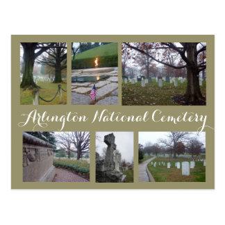 Postal Collage del cementerio de Arlington