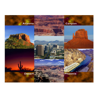 Postal Collage del desierto de Arizona