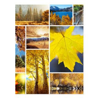 Postal Collage del otoño