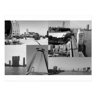 Postal Collage Rotterdam 2 de la foto en blanco y negro