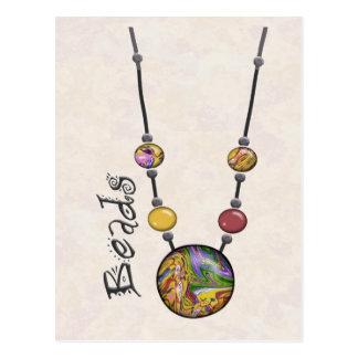 Postal Collar enorme 19 multicolores    de la gota
