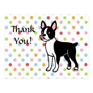 Postal Colocación de Boston Terrier