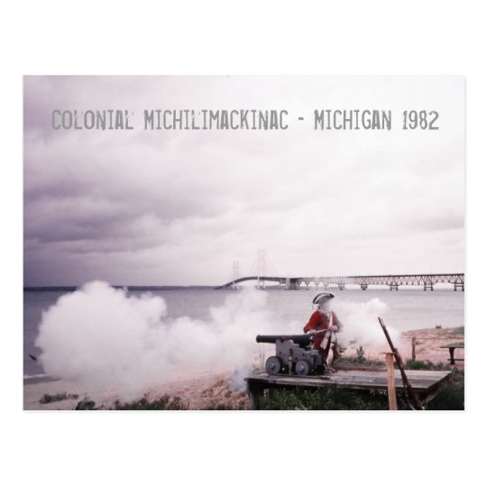 Postal colonial de Michilimackinac Michigan