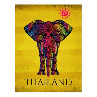 Postal Color brillante intrépido el   Tailandia del