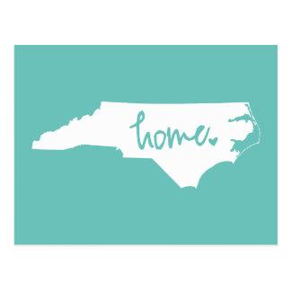 Postal Color casero del personalizado de Carolina del