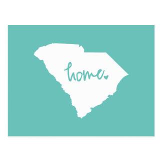 Postal Color casero del personalizado de Carolina del Sur