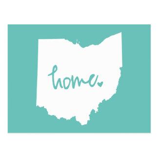 Postal Color casero del personalizado de Ohio