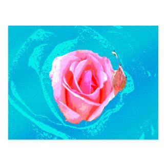 Postal color de rosa psicodélico