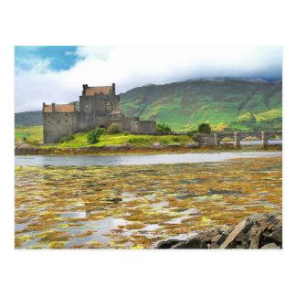 Postal Color del castillo de Eilean Donan