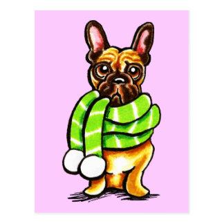 Postal Color del personalizado de la bufanda del invierno