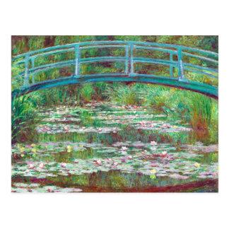 Postal Color restaurado pasarela japonesa de Claude Monet