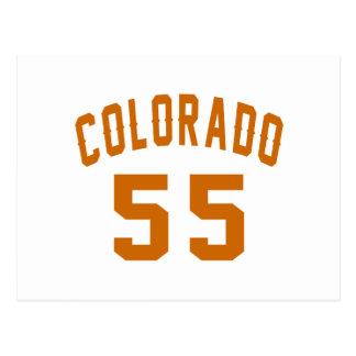 Postal Colorado 55 diseños del cumpleaños