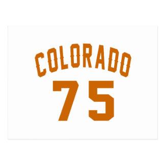 Postal Colorado 75 diseños del cumpleaños
