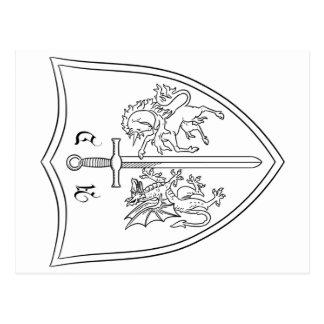 Postal Colorante del escudo de armas de Amelia