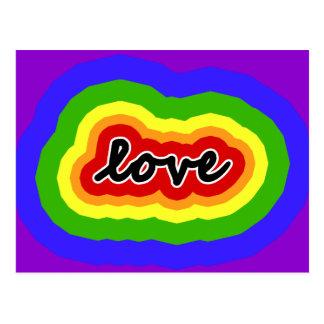 Postal Colores del amor del arco iris