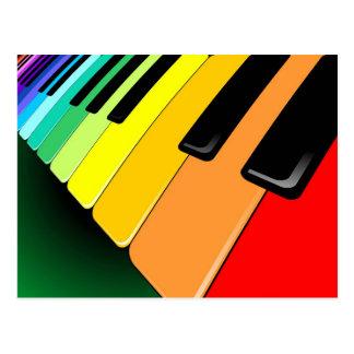 Postal Colores del fiesta de la música del teclado