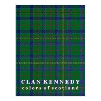 Postal Colores del tartán de Kennedy del clan de Escocia