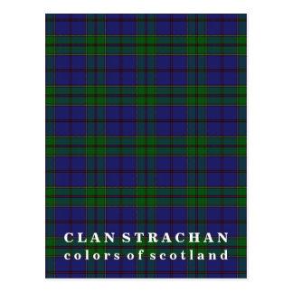 Postal Colores del tartán de Strachan del clan de Escocia
